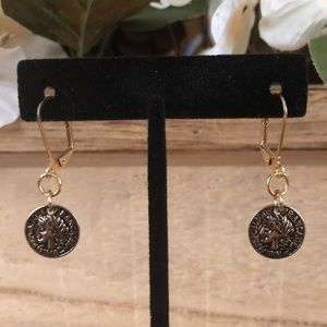 Jewelry - *Moving Sale*Medium faux coin earrings